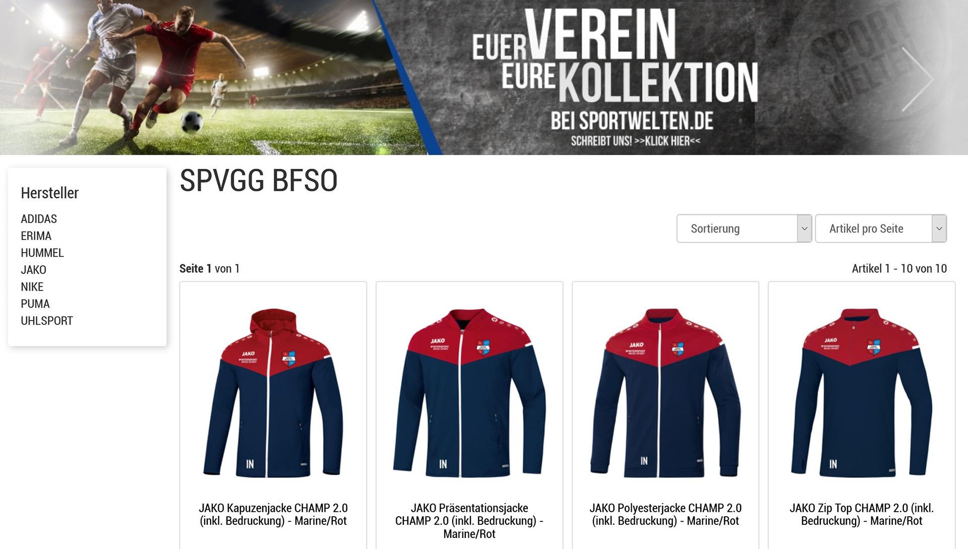 BFSO-Mannschaftskollektion